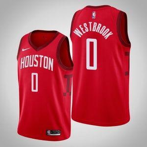 Houston Rockets 0 Russell Westbrook Jersey